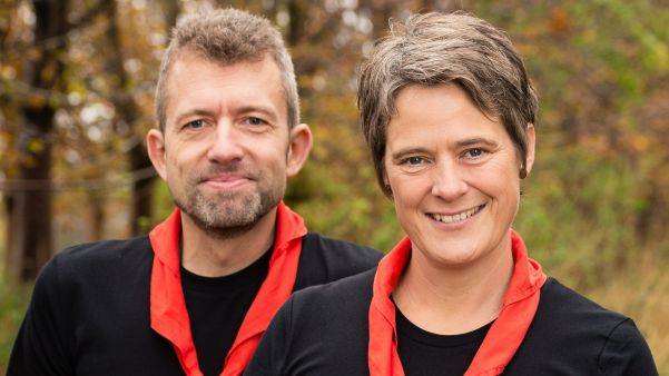Morten Lykkeberg og Charlotte Flaksager, lejrchefer for Spejdernes Lejr 2022 - foto, Jonas B. Whitehorn